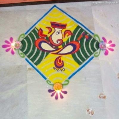 Rangolis for Ganesh Feestival