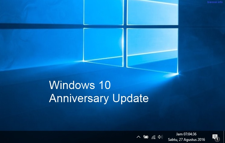 Tips Windows Cara menampilkan informasi waktu jam lengkap menit dan detik pada taskbar Display Second Time Clock in Windows 10 Anniversary Update
