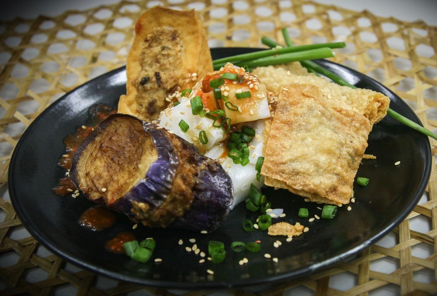 Stuffed Bean Curd or Tofu Skin the Hakka Yong Tofu way