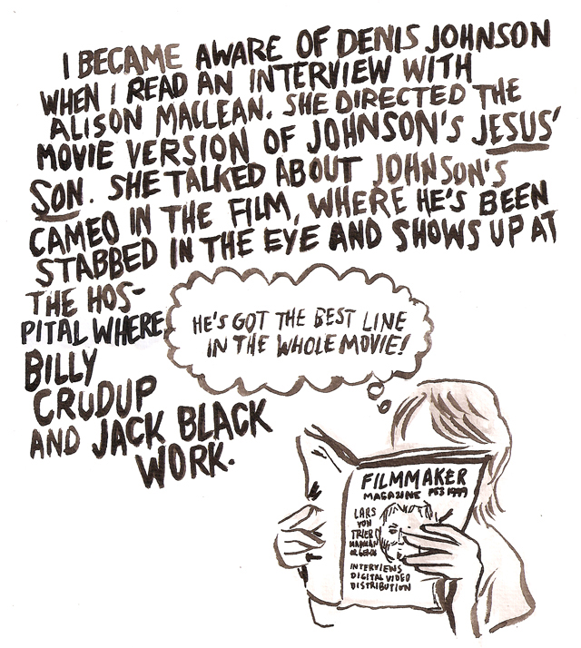 the picador book room · illustrated essay about denis johnson  the rest of gelgud s essay here