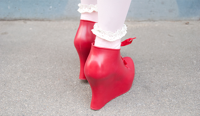 Melissa shoes, red shoes, jelly shoes