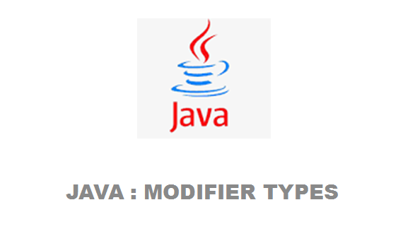 Java – Modifier Types