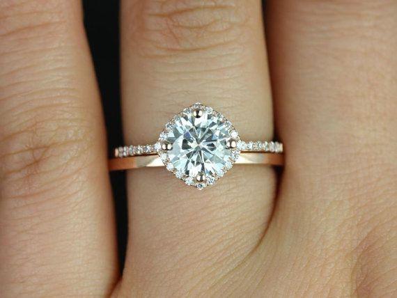 Rose Gold Wedding Band Engagement Ring