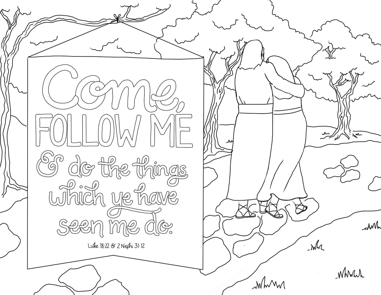 follow me coloring pages - photo#3