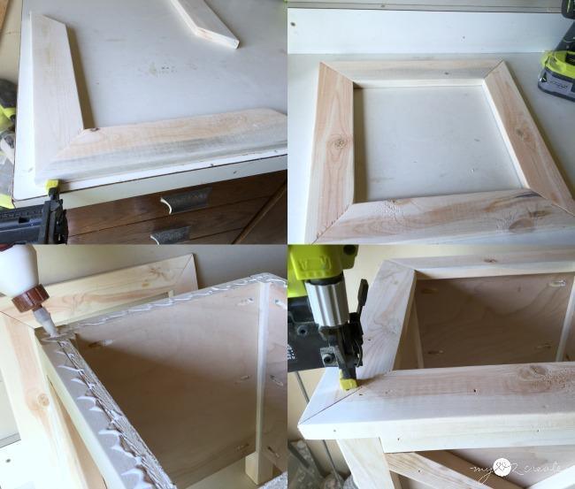 building top frame for planter box