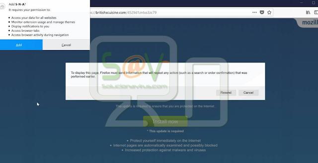 S-N-A 1.0.0 (Extensión forzosa de Firefox)