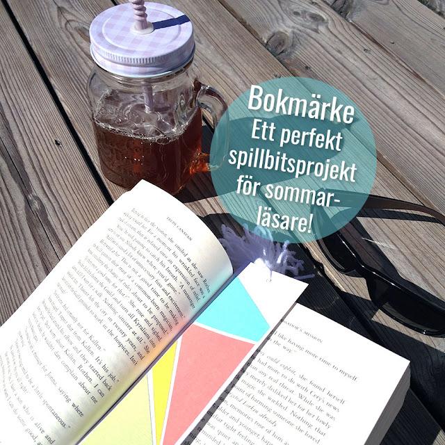 Koppla av med en bok i sommar - glöm inte bokmärke!!!
