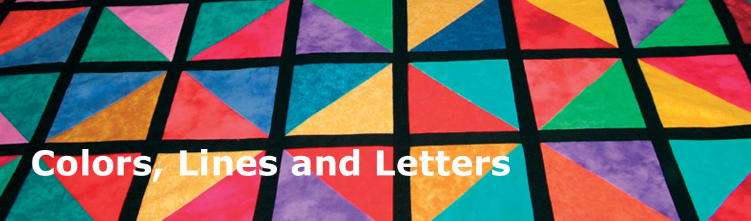Colors, Lines and Letters
