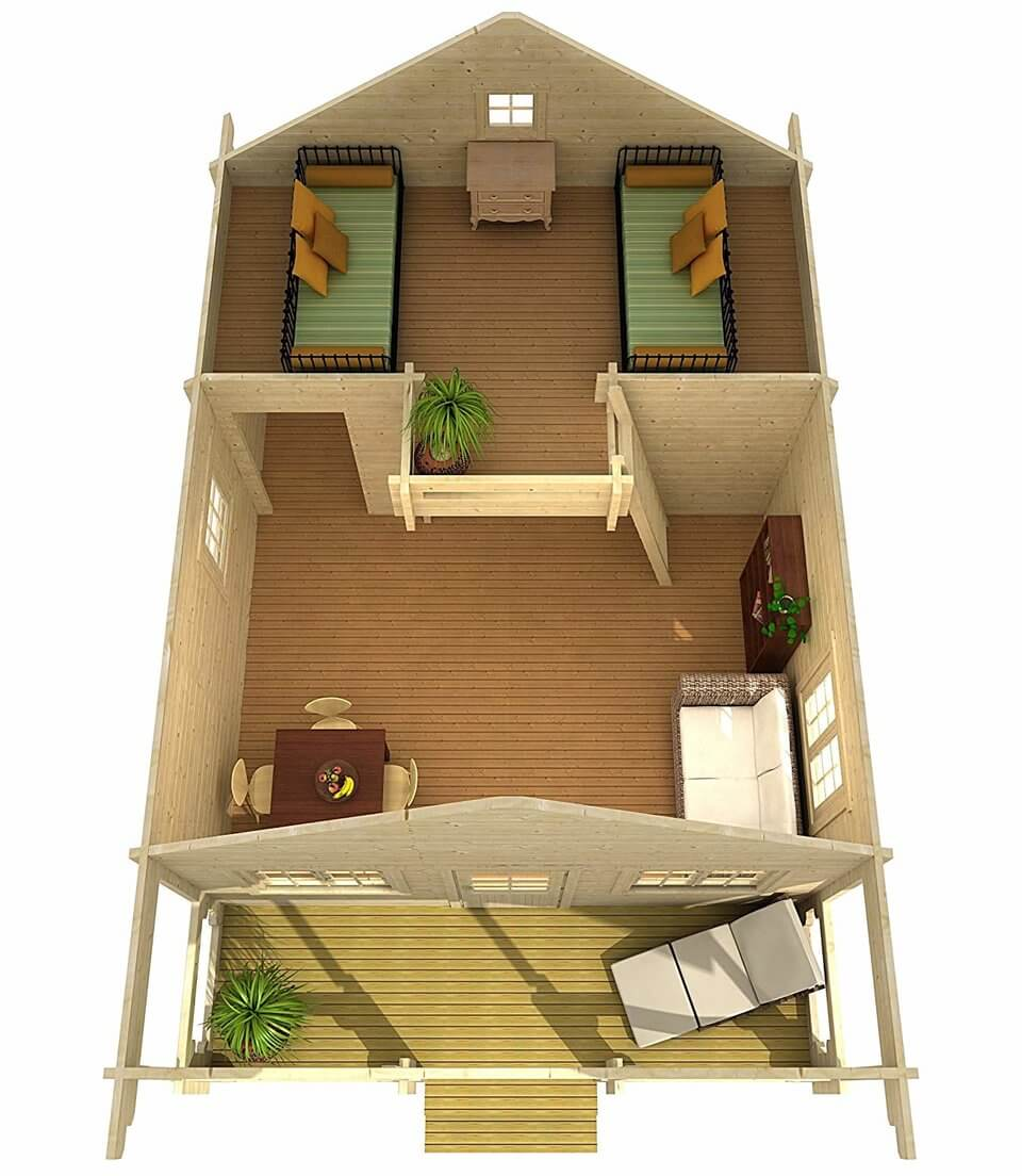 Amazon Sells Cute DIY Tiny Home Kit Built That Takes Only Two Days To Build