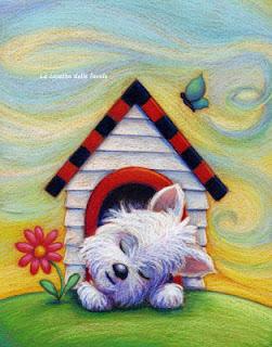cão na casinha
