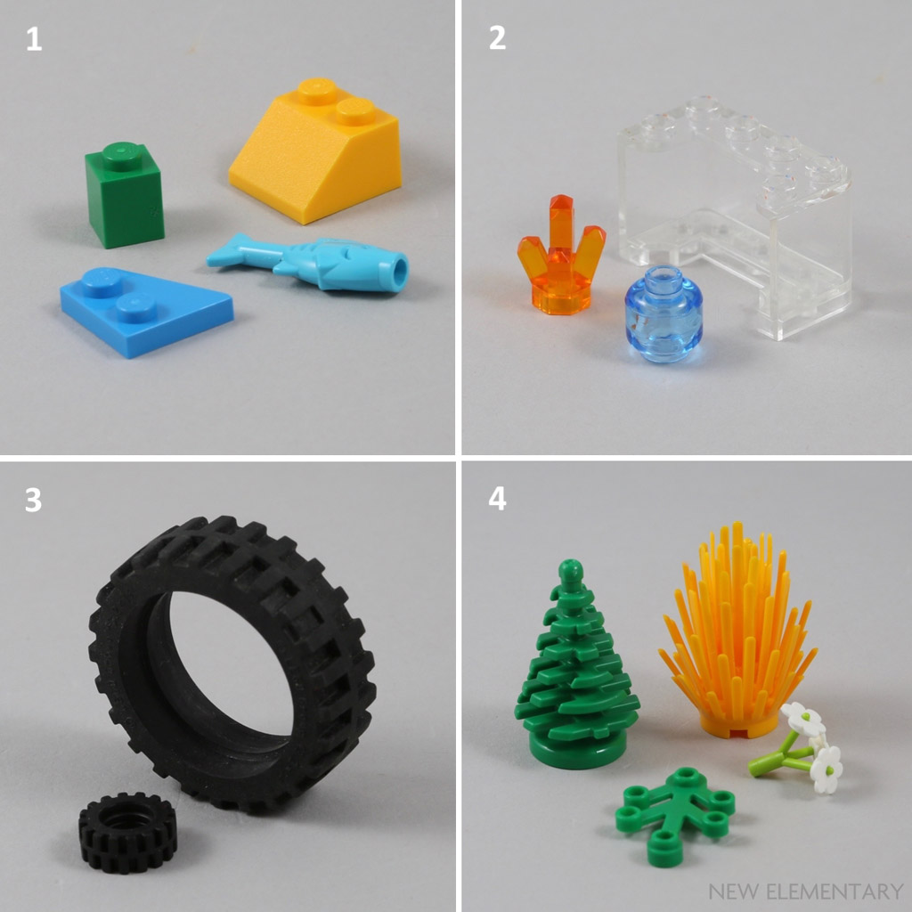 NEW LEGO Part Number 2423 in a choice of 2 colours