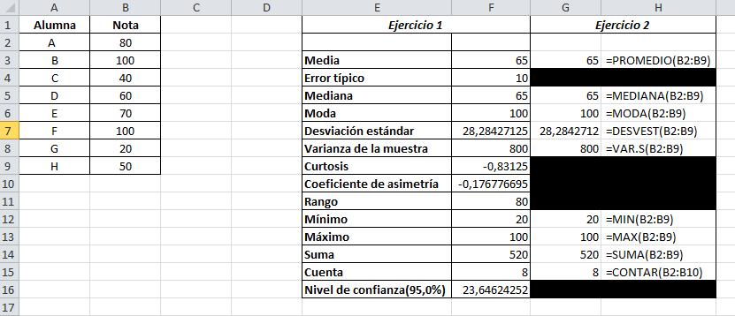 Ejercicio N5 Excel Análisis De Datos Estadística Descriptiva Acap