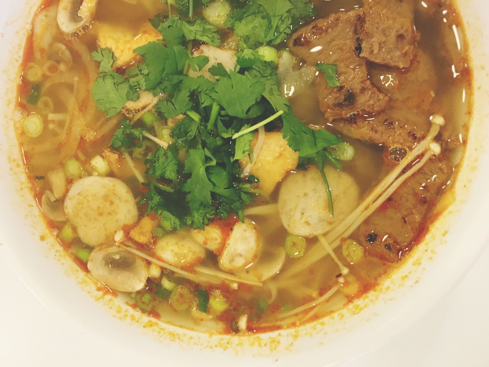 bun hue at Loving Hut - a vegan restaurant in Houston, Texas