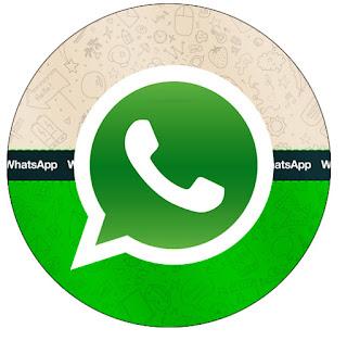 Toppers o Etiquetas de WhatsApp para imprimir gratis.