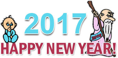 Goodbye 2017 Welcome 2017 Cartoon