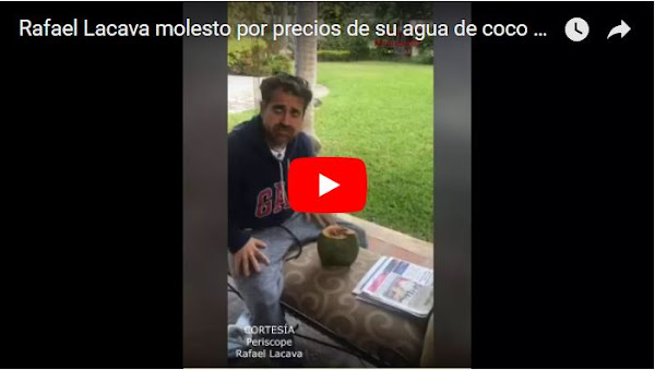 Rafael Lacava tiene problemas con el precio de un coco