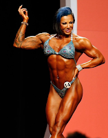 Female bodybuilding She's a very strong muscle girl