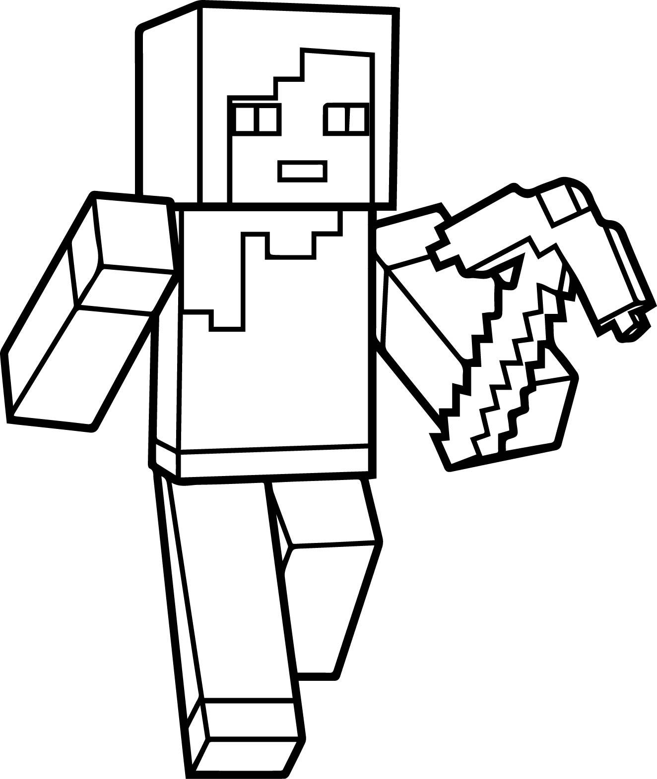 desenhos para colorir minecraft para imprimir qt09 ivango