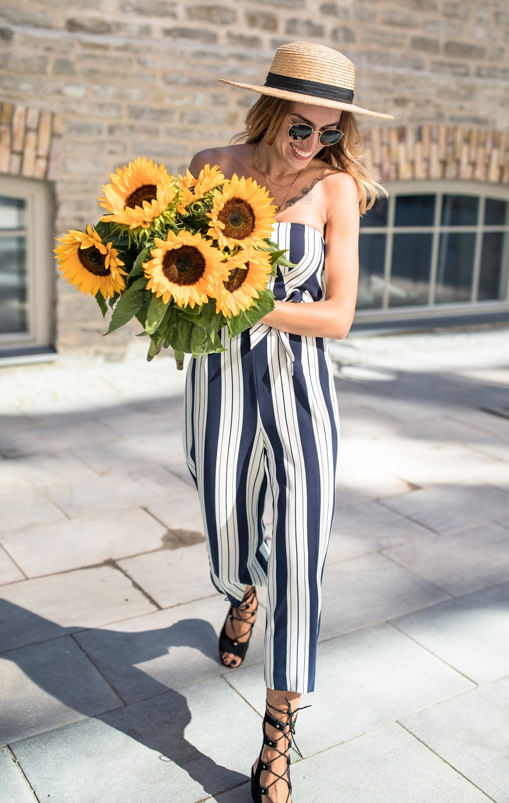 girl sunflowers summer outfit