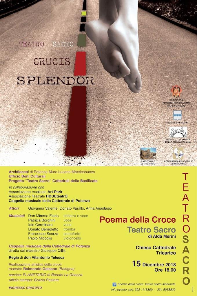 Tricarico: nella Cattedrale ultimo appuntamento per il 2018 con il teatro sacro di Alda Merini