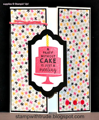 Tuesday Tutorial 35, Trude Thoman, Stamp with Trude, Stampin Up, Birthday Wishes card