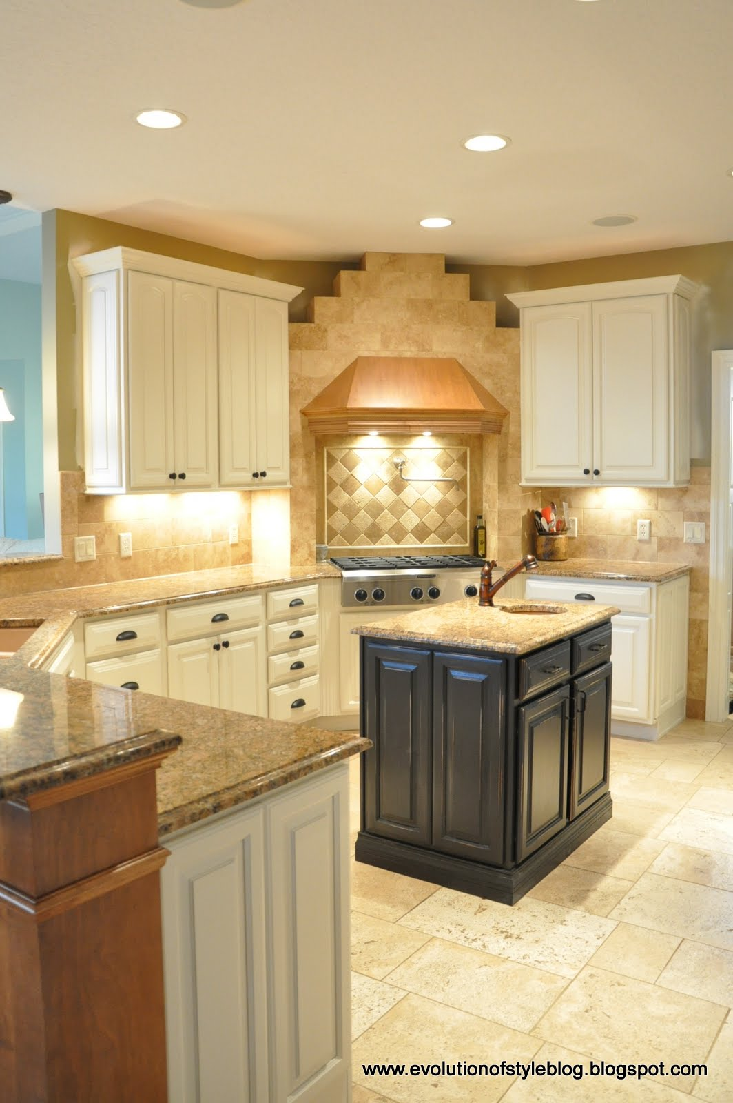 Kitchen Reveal! - Evolution of Style on my kitchen floor tile, my kitchen sink, my kitchen counter,