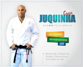 Candidato Mestre Juquinha pretende ir além dos tatames