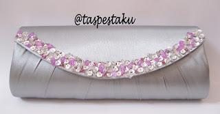 Tas Pesta Silver dan Pink Cantik Buat Acara Seserahan Atau Wisuda