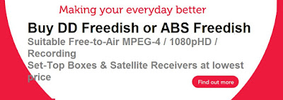 Buy ABS Freedish Suitable freetoair mpeg4 Full HD Set-top box online