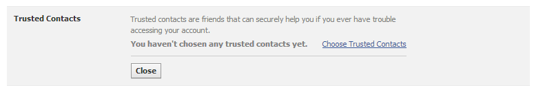 The Latest Facebook Password Security Option; Trusted Contacts
