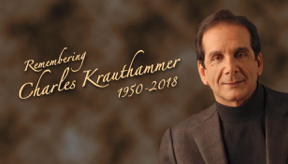 Charles Krauthammer, conservative commentator and Pulitzer Prize winner, dead at 68.