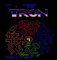 Pantalla selección subjuegos Arcade Tron - 1982