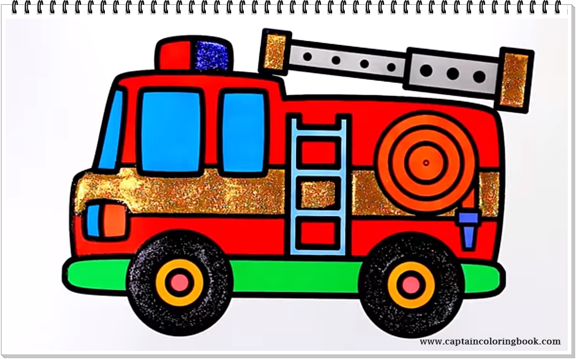 Fire Truck Pictures To Color