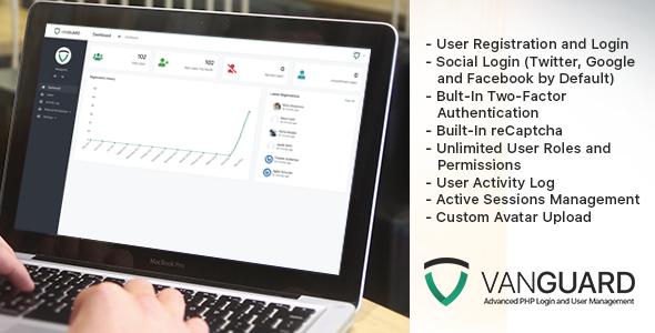 Vanguard v3.0.0 - Advanced PHP Login and User Management
