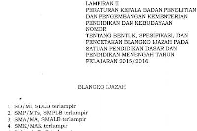 gambar format ijazah 2016