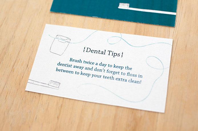 Business Cards For A Dental Hygienist