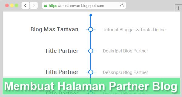 Cara Membuat Link Patner Keren Seperti Blog Mas Tamvan