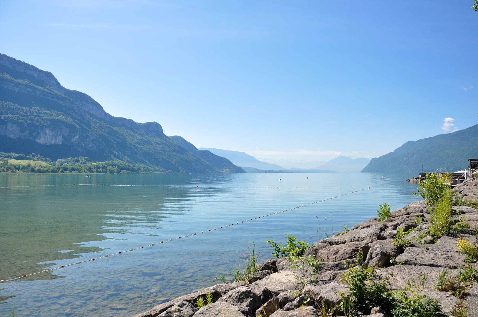 A view of Lake Bourget, France's largest lake