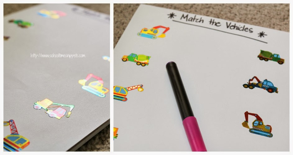 simple toddler matching activity