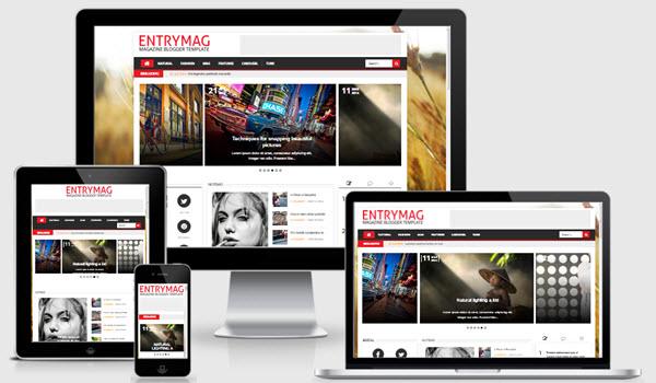 EntryMag Responsive Blogger Template
