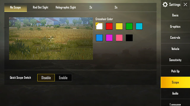 Setting-scope-aim-pubg-mobile-terbaru