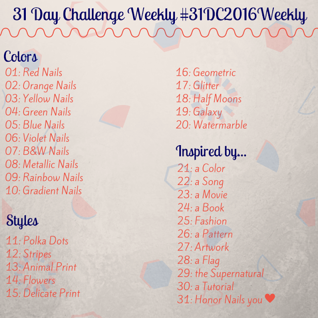 #31DC2016Weekly - The weekly nail art challenge - McPolish