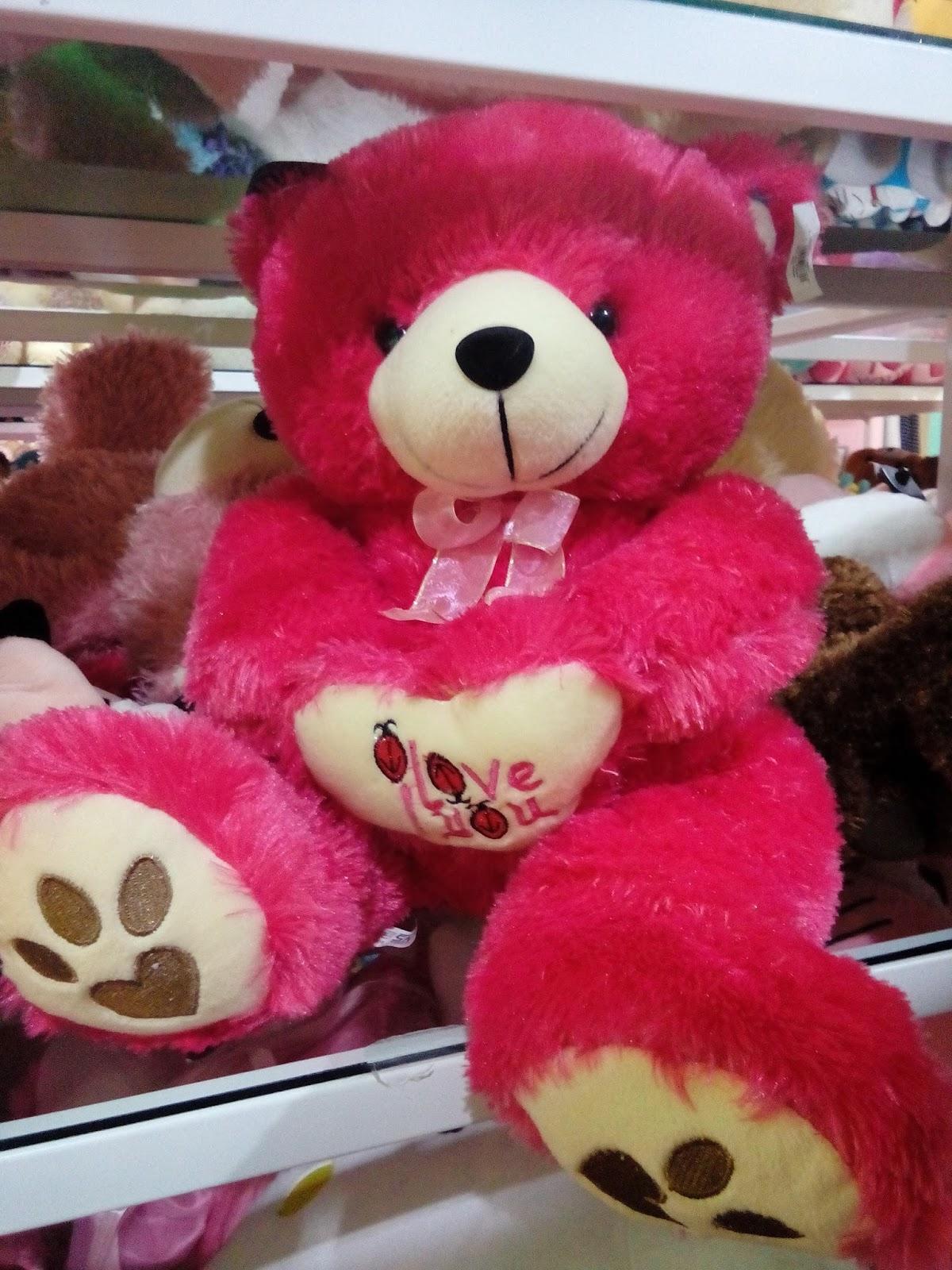 boneka teddy bear warna pink Jolie Jogja Wirobrajan