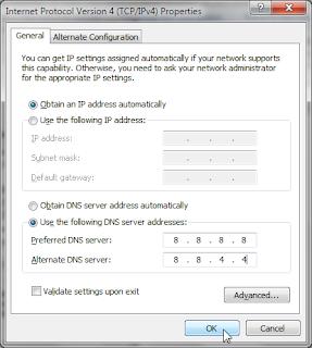 Open DNS Google