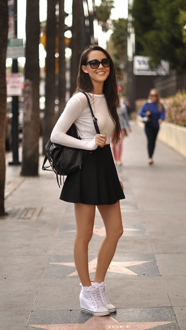 Angellyrics Topics Can Sneakers Match With Girly Outfits?-Sports ShoesSkirtsDresses Match.