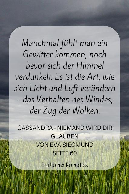 Buchrezension #179 Cassandra - Niemand wird dir glauben von Eva Siegmund