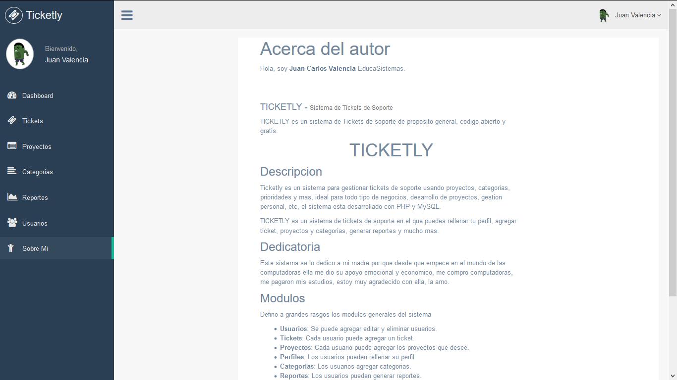 Sistema tickets con soporte PHP , MYSQL, Bootstrap y Ajax
