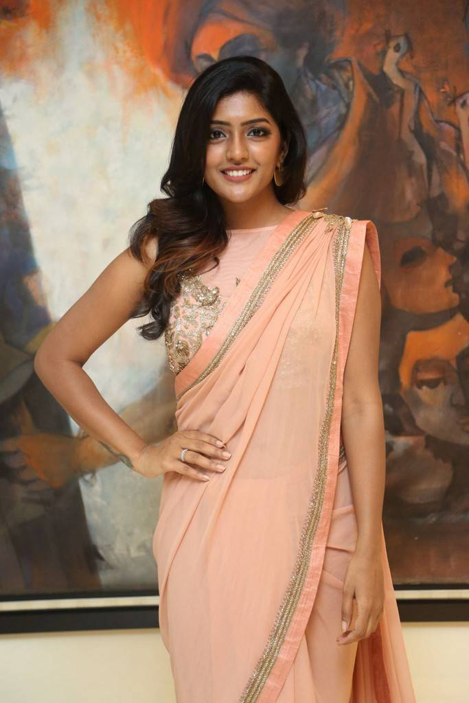 Eesha In Pink Saree At Darshakudu Pre Release Function