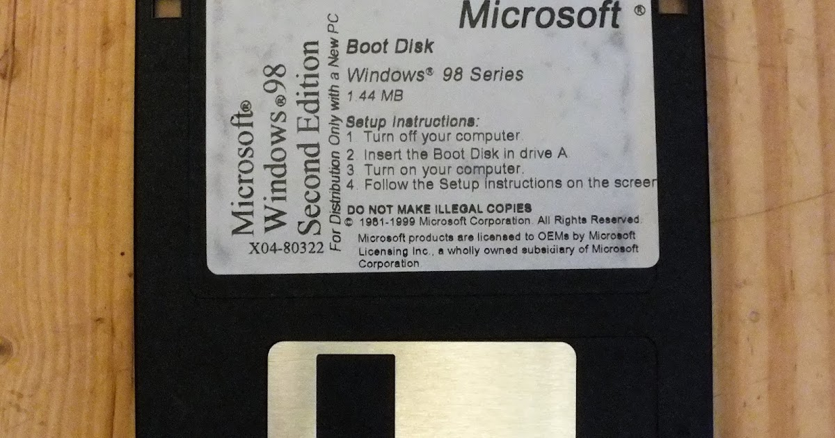 Windows 98 Setup Boot Disk