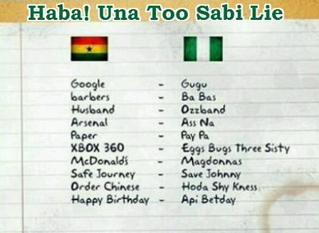 nigeria ghana words pronounciation